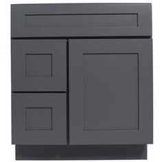 For Everyday Cabinets Grey Shaker 30 Inch Single Sink Bathroom Vanity Cabinet Get