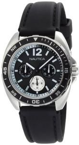Nautica Men's N09910G Sport Ring Multifunction Black Box Set Watch