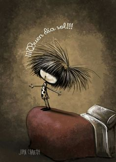 Funny Love, Hair Designs, Decir No, Love Quotes, Emojis, 3, Good Morning Messages, Cartoons, Crazy Hair