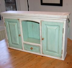 Reserved Wall Mounted Cabinet Shabby Chic Distressed. $100.00, Via Etsy.  Bathroom, Kitchen