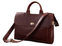 """PRODUCT DESCRIPTION SELVAGGIO Leather Bag. Closure: Zipper Gender: Unisex Pattern Type: Solid Main Material: Genuine Italian Leather Color: Dark Coffee Size: 15.5""""L x 3.5""""W x 12.5""""H inches Weight: 3 l"""