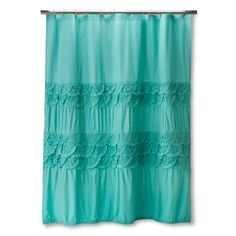 Boho Boutique Textured Shower Curtains - Teal