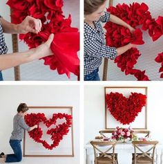 Fabric scraps + chicken wire = heart