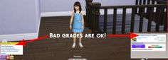 Mods: Simstopics Bad Grades are OK by devilgurl from Mod The Sims This mod is to allow children sims the ability to slack off without having to worry about Sims 4 Cheats, Around The Sims 4, Bad Grades, Slack Off, Sims 4 Update, Sims Mods, Sims 4 Custom Content, Sims 2, Funny Games