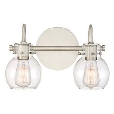 Quoizel Lighting Andrews Antique Nickel Bathroom Light At Destination  Lighting