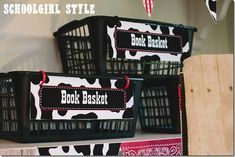 Cow print nameplates for your Western themed classroom.  *Schoolgirl Style