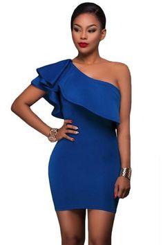 Elegáns kék ruha