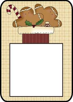 Gingerbread Post It Notes--- http://www.northpolechristmas.com/Christmas-post-its.html