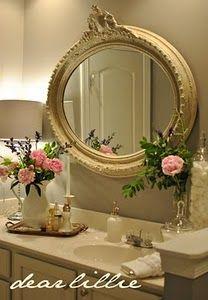 Bathroom bathroom mirrors, wall colors, monday, paint colors, master bathrooms, fresh flowers, master baths, benjamin moore, guest bathrooms