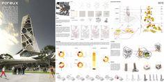 Architecture and Design Magazine for the Century. Organizer of the Annual Skyscraper Architectural Competition. Concept Board Architecture, Architecture Presentation Board, Portfolio Presentation, Project Presentation, Architecture Panel, Presentation Layout, Architecture Magazines, School Architecture, Presentation Boards