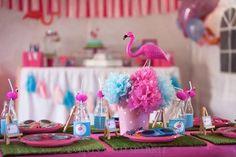 Pink Flamingo themed birthday party Full of Lots of Cute Ideas via Kara's Party Ideas! full of decorating ideas, cakes, recipes, favors, pri...