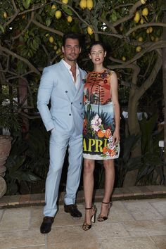 Amazing evening in Capri with the iconic #DGlightblue couple, stunning David Gandy and beautiful Bianca Balti. #DGLovesCapri
