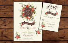 Printable Fall Woodland Wedding Invitation by RememberNovemberShop, $28.00