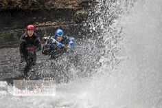 Photo of  a group canyoning in South Wales with Adventure Britain. The most popular activity for stag party groups