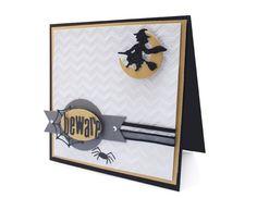 Cute Halloween Card #witch #embossingfolder #halloween