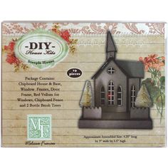 Amazon.com: Melissa Frances DIY Chipboard House Kit, Steeple: Arts, Crafts & Sewing