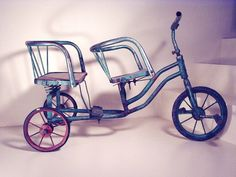 Tricycle with 2 seats rare and unique by HabitShmabit on Etsy, $995.00