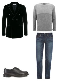 """11"" by nycmoo on Polyvore featuring Paul Smith, Yves Saint Laurent, Polo Ralph Lauren, Dr. Martens, men's fashion и menswear"