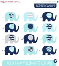 Items similar to Baby Elephants Clip Art Set / Elephant Illustration / Printable Clip Art / Commercial / Aqua Navy / Children / Nursery Art on Etsy Cool Baby Girl Names, Make Your Own Invitations, Boy Diaper Bags, Elephant Illustration, Baby Room Diy, Baby Shower Gifts For Boys, Baby Girl Blankets, Baby Elephants, Elephant Baby