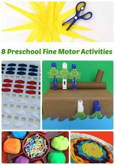 8 Fine Motor Activities for Preschool | The Jenny Evolution  #finemotor