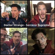 #BenedictCumberbatch #DoctorStrange behind the scenes(sort of) Benedict Cumberbatch(Doctor Strange), I still haven't seen this movie..