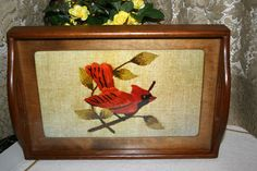 Wooden Needlepoint Tray//Crewel or Embroidery Design//Home Wall Decor//Serving Tray//Vintage Tray by TresorsJeAmour on Etsy https://www.etsy.com/listing/293118621/wooden-needlepoint-traycrewel-or