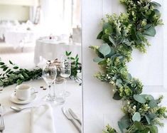 Wedding Accessories,Bridal Accessories,Wedding Decor by BellasBloomStudio Greenery Centerpiece, Greenery Garland, Floral Centerpieces, Wedding Centerpieces, Diy Garland, Wedding Arch Rustic, Garland Wedding, Wedding Backdrops, Diy Wedding