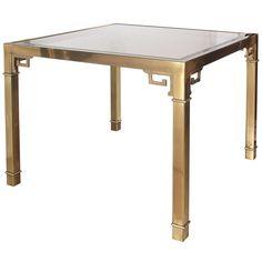1stdibs.com | Brass Games/Breakfast Table by Mastercraft