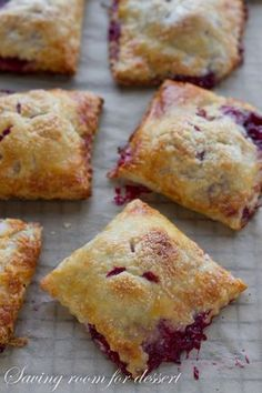 Berry Hand Pies - Saving Room for Dessert Just Desserts, Delicious Desserts, Yummy Food, Tasty, Gourmet Desserts, Pie Recipes, Dessert Recipes, Cooking Recipes, Desert Recipes