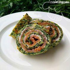 Low Carb Rezept für leckere Low-Carb Lachs-Spinatrolle. Wenig Kohlenhydrate und einfach zum Nachkochen. Super für Diät/zum Abnehmen.