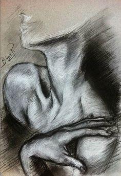 New Womens Painting Body Ideas Life Drawing, Figure Drawing, Drawing Sketches, Painting & Drawing, Art Drawings, Body Painting, Sketching, Illusion Kunst, Drawn Art