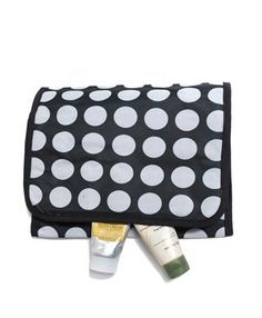 White Polka-Dots Tri-Fold Travel Cosmetic Bag boxed-gifts. $9.99. Save 52% Off!