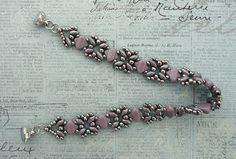 Linda's Crafty Inspirations: Bracelet of the Day: Sandra Silky - Lilac & Silver