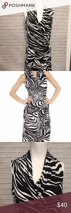 "Karen Kane Zebra Black & White Sleeveless Dress M New with tags attached. Bust - 28"" Total length -  37"" Karen Kane Dresses Mini"