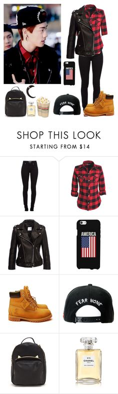 """""""#384: Mark Outfit (GOT7)"""" by exoo ❤ liked on Polyvore featuring Burberry, Anine Bing, Timberland, Trukfit, Chanel and Givenchy"""