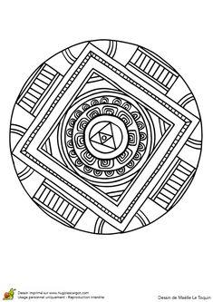 Coloriage d'un Mandala sacré