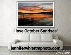 I'm ready for October sunrises! They are some of the prettiest here in the Ozarks! Photos by Jennifer White Timeless Moments Photography. #sunrisephotography #octobersunrises #ozarks