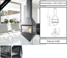 Camino design da interni Iris di Traforart - Zetalinea SRL