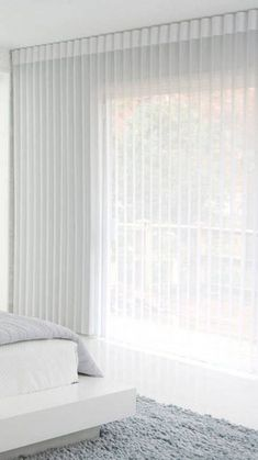 White Ripplefold Sheers - looks best with minimal hem and thicker header Wave Curtains, Ceiling Curtains, Voile Curtains, Curtains With Blinds, Drapery, Cortina Wave, Small Space Interior Design, House Blinds, Custom Curtains