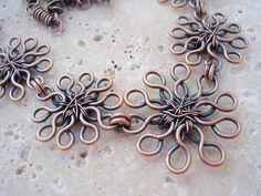 Organic Daisies NecklaceCopper Wire by JulidasTrinkets on Etsy, $64.00