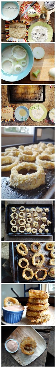 b80a928c92e26 Cooking classes - How to bake health onion rings step by step DIY tutorial  instructions