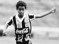 Ronaldinho was identified as a rising star at the 1997 World Championship in Egypt, in which he scored two goals on penalty kicks. Football Awards, Football Stadiums, Football Soccer, Soccer Drills, Football Players, Soccer Cleats, Fifa, Soccer Art, Soccer Pics