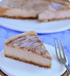 This velvety cheesecake literally MELTS in your mouth! And the best part is that it's secretly good for you! How to make it: http://chocolatecoveredkatie.com/2014/04/01/bake-cinnamon-swirl-cheesecake/