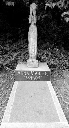 Anna Mahler at Highgate Cemetery, London: