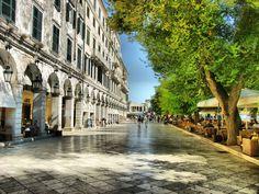Liston Square in Corfu Town - Greece Beautiful World, Beautiful Places, Places To Travel, Places To Go, Corfu Town, Corfu Island, Local Tour, Holiday Places, Greece Islands