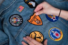 Place the patches on the jacket in your desired pattern.