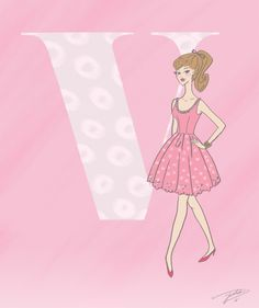 I made my friend Katelyn these illustrations for her baby's nursery. She wanted something girly and feminine.