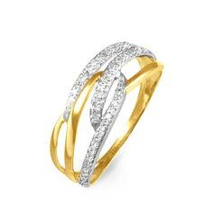 Bague Or Jaune et Diamants - Histoire d'Or