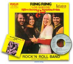 """Abba's single """"Ring Ring"""" release from Mexico which included """"Rock'N Roll Band"""" as the b-side... #Abba #Agnetha #Frida #Vinyl #Mexico http://abbafansblog.blogspot.co.uk/2017/04/wish-list.html"""
