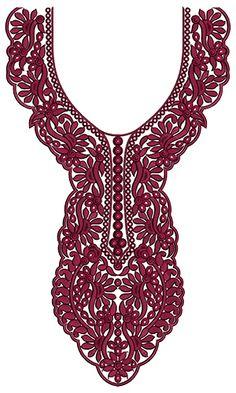 9748 Neck Embrodery Design